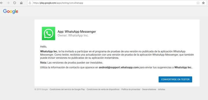 Descargar e instalar ultima actualizacion de WhatsApp APK beta y version estable para Android
