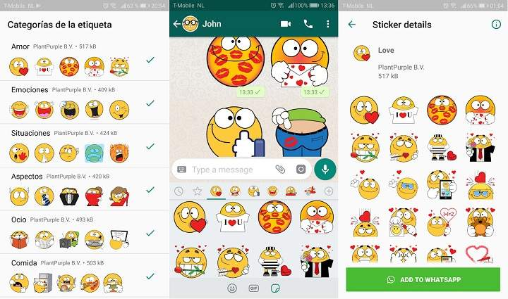 estiquer de amor stickers bonitos para descargar emoticones de amor y memes para WhatsApp
